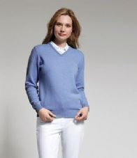 GM83 Glenmuir Ladies V Neck Lambswool Sweater